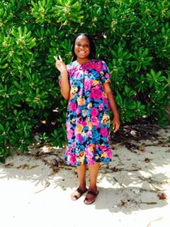 Lunedy in local Marshallese dress.